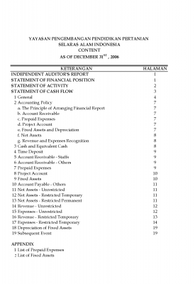 Auditor Report 2006