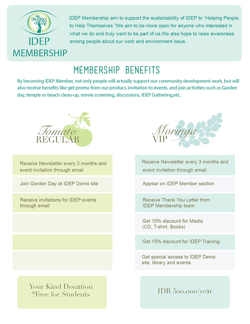 IDEP Foundation - Membership Benefits