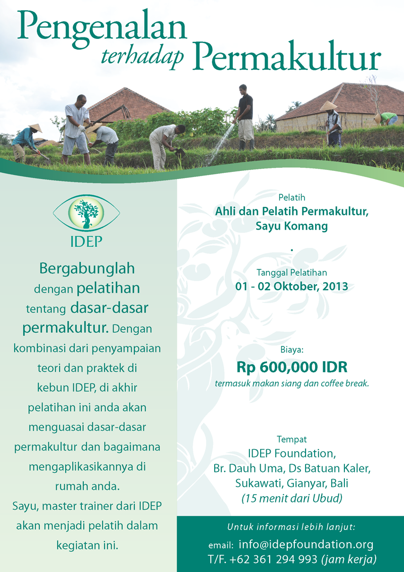 IDEP Foundation - Introduction to Permaculture Training