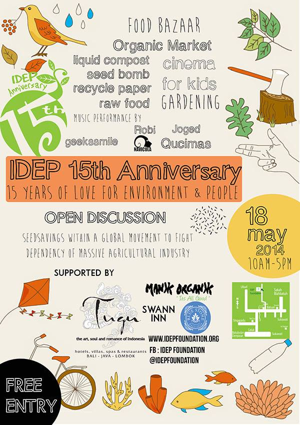 IDEP 15th Anniversary Event Flyer