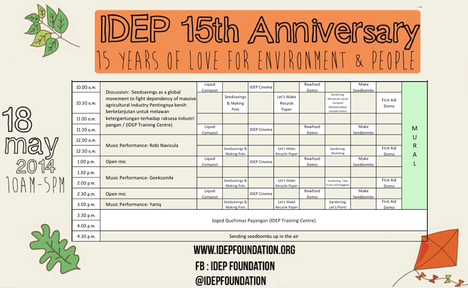 IDEP 15th Anniversary Event Rundown