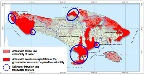 IDEP Foundation - Bali Water Protection Program - Map of Critical Area