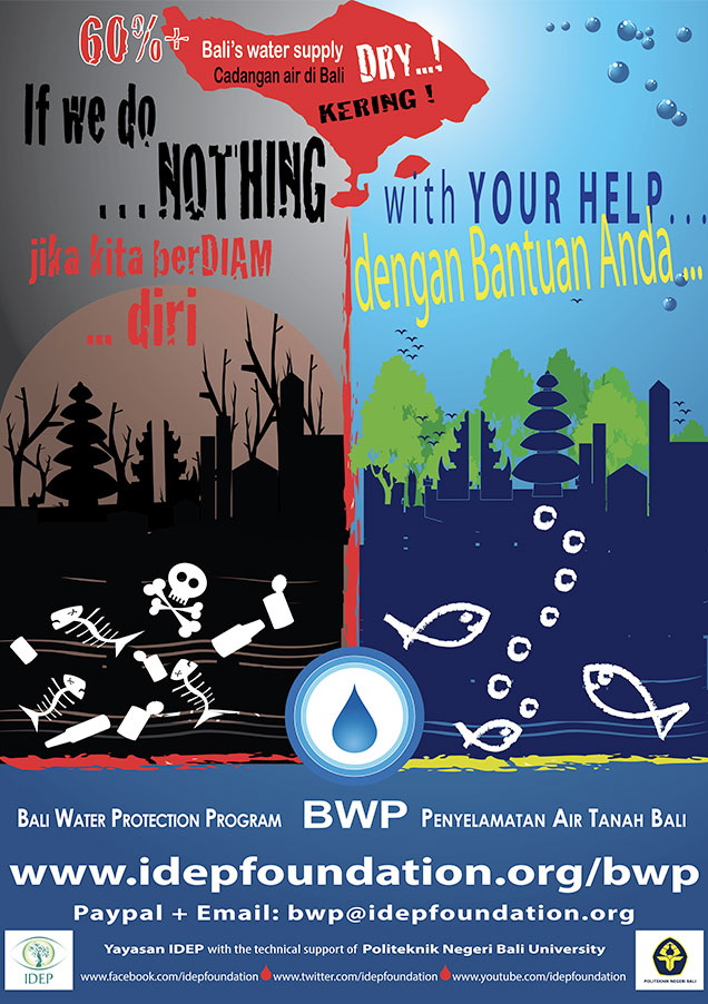 IDEP Foundation - Bali Water Protection Program Poster